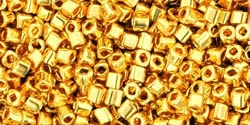 TC01-712 - Toho 1.5mm Cube - 24K Metallic-Gold - 5 Grams