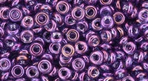 TN08-205 - 8/0 Toho Demi Round 3mm : Gold-Lustered Dark Amethyst - Approx 7.4 Grams