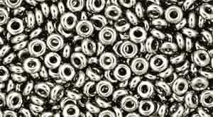 TN08-711 - 8/0 Toho Demi Round 3mm : Nickel - Approx 7.4 Grams