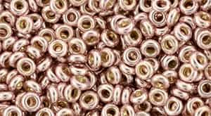 "TN08-PF552 - TOHO - Demi Round 8/0 3mm Tube 2.5"" : PermaFinish - Galvanized Sweet Blush - Approx 7.4 Grams"