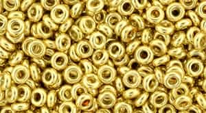 "TN08-PF557 - TOHO - Demi Round 8/0 3mm Tube 2.5"" : PermaFinish - Galvanized Gold - Approx 7.4 Grams"