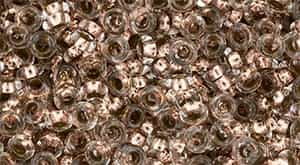 "TN08-PF740 - TOHO - Demi Round 8/0 3mm Tube 2.5"" : PermaFinish - Copper-Lined Crystal - Approx 7.4 Grams"