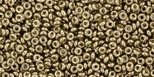 TN11-204 - 11/0 Toho Demi Round 2.2mm : Gold-Lustered Montana Blue - Approx 7.8 Grams