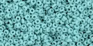 "TN11-55F - TOHO - Demi Round 11/0 2.2mm Tube 2.5"" : Matte Opaque Turquoise - Approx 7.8 Grams"