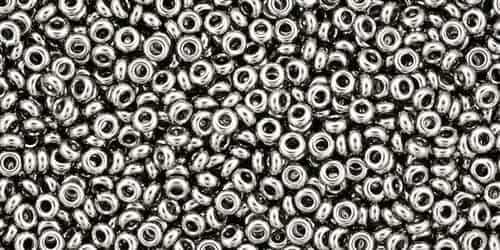 TN11-711 - 11/0 Toho Demi Round 2.2mm : Nickel - Approx 7.8 Grams