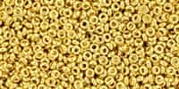 TN11-712 - 11/0 Toho Demi Round 2.2mm : Metallic-Gold Plated - Approx 7.8 Grams