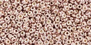 "TN11-PF552 - TOHO - Demi Round 11/0 2.2mm Tube 2.5"" : PermaFinish - Galvanized Sweet Blush - Approx 7.8 Grams"