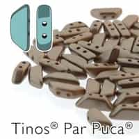 Tinos par Puca : TNS410-02010-25005 - Pastel Light Brown Coco - 25 Beads