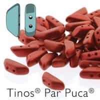 Tinos par Puca : TNS410-03000-01890 - Red Metallic Matte - 25 Beads