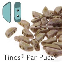 Tinos par Puca : TNS410-03000-15695 - Opaque Mix Rose/Gold Ceramic - 25 Beads
