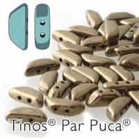 Tinos par Puca : TNS410-23980-14485 - Dark Gold Bronze - 25 Beads