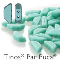 Tinos par Puca : TNS410-63130 - Opaque Green Turquoise - 25 Beads