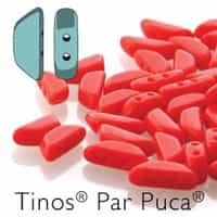 Tinos par Puca : TNS410-93200 - Opaque Coral Red - 25 Beads