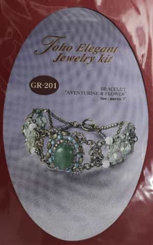 TO-GR-201 - Toho Elegant Jewelry Kit: Aventurine & Flower Bracelet