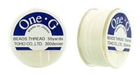TOG-1 - Toho One-G Beading Thread: White - 50 Yards