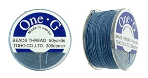 TOG-10 - Toho One-G Beading Thread : Blue - 50 Yards