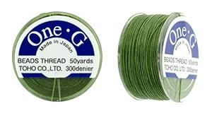 TOG-12 - Toho One-G Beading Thread : Green - 50 Yards