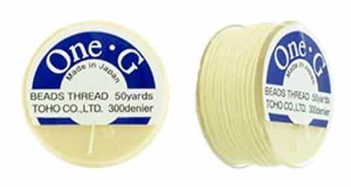 TOG-13 - Toho One-G Beading Thread : Cream - 50 Yards