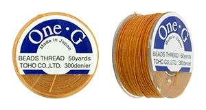 TOG-15 - Toho One-G Beading Thread : Orange - 50 Yards
