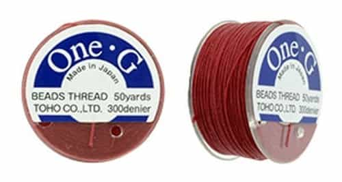TOG-17 - Toho One-G Beading Thread : Red - 50 Yards