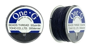 TOG-18 - Toho One-G Beading Thread : Navy - 50 Yards