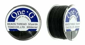 TOG-2 - Toho One-G Beading Thread : Black - 50 Yards