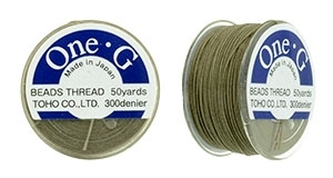 TOG-20 - Toho One-G Beading Thread : Light Khaki - 50 Yards