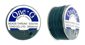 TOG-22 - Toho One-G Beading Thread : Deep Green - 50 Yards