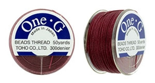 TOG-6 - Toho One-G Beading Thread : Burgundy - 50 Yards