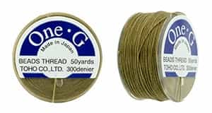 TOG-8 - Toho One-G Beading Thread : Sand Ash - 50 Yards
