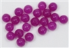 TQF8MM - 8mm Round Translucent Quartz Fuchsia, Permanently Dyed, 10 Pieces