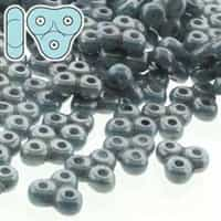 TRT-03000-14464 - Trinity Beads 6x6mm - Blue Luster-50 GRAM/BAG