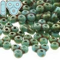 TRT-63030-43400 - Trinity Beads 6x6mm - Turquoise Blue/Picasso - 25 Count