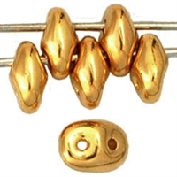 SuperDuo 2/5mm : 8 Grams - 24K Gold Plated