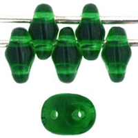 SuperDuo 2/5mm : 8 Grams - Green