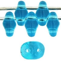 SuperDuo 2/5mm : 8 Grams - Aquamarine