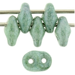 SuperDuo 2/5mm : 8 Grams - TSD-64454 Luster - Stone Green