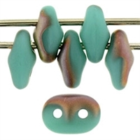 SuperDuo 2/5mm : 8 Grams - TSD-AM6313 Matte - Apollo Turquoise