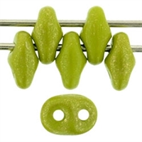 SuperDuo 2/5mm : 8 Grams - TSD-GM53420 - Opaque Olive - Marbled Gold