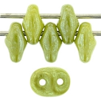 SuperDuo 2/5mm : 8 Grams - TSD-L53420 Opaque Olive - Luster