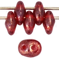 SuperDuo 2/5mm : 8 Grams - Luster - Ruby