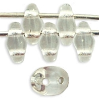 SuperDuo 2/5mm : 8 Grams - TSD-SL0003 Silver Lined - Crystal