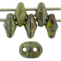SuperDuo 2/5mm : 8 Grams - Picasso - Opaque Olive