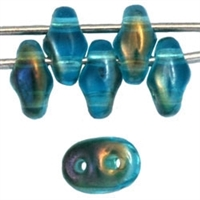 SuperDuo 2/5mm : 8 Grams - Twilight - Aquamarine