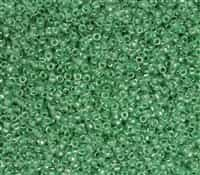 TTR09-343 - Takumi Large Hole Round 9/0 - Inside Color-Crystal/Apple Green - 10 Grams
