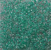 Twin Bead 2.5X5mm Crystal Green Color Lined - Approx 23 gram tube