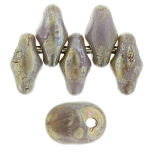 UN0523020-43400 - SuperUno 2.5X5mm Opaque Violet/Picasso - 25 Beads