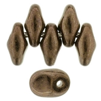 UN0523980-14415 - SuperUuo 2.5X5mm Jet Bronze - 25 Beads
