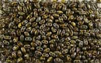 SUPERDUO BEADS 2.5x5mm 8 Grams OPAQUE YELLOW PICASSO