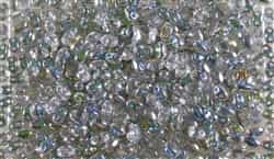 SUPERDUO BEADS 2.5x5mm 8 Grams CRYSTAL VITRAIL